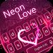 Neon Love Keyboard Theme by Super Keyboard Theme