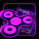Fidget Spinner Neon Keyboard by Cool Theme Studio