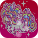 pink cute Unicorn lock screen by Go APPS