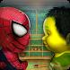 Flying Spider Boy vs. Mr. incredible Super Villain