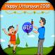 Makar Sankranti & Kite & Uttarayan GIF 2018 by PSL Photo Frame Editor Maker
