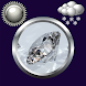 Diamond Clock Weather Widget by Compass Clock and Weather