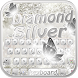 Silver diamond Keyboard Theme by Fly Liability Themes