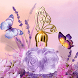 Perfume Rose Golden Butterfly by Launcher phone theme
