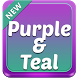 Purple and Teal Theme by SuperColor Themes