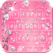 Rose diamond keyboard theme by Fly Liability Themes