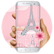 Pink Diamond Paris Love keyboard by Bestheme Keyboard Designer 3D &HD
