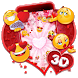 3D Valentine Love Emoji Theme by no.1 3D Theme