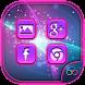 Purple Neon Launcher Theme by Little Beast