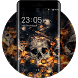Theme for Vivo V5/V5 plus: Fire Skull HD Wallpaper by cool launcher theme designer