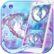 Colorful Water Love Heart Keyboard by The Best Android Themes