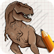 Draw Jurassic Dinosaurs by Fill the Outlines