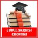 Judul Skripsi ekonomi by Rosse Studio