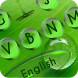 Green Leaf Water Drop Keyboard by New Keyboard @2016