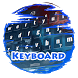 Red and denim Keypad Skin by Electric neon