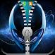 Alien zipper lock screen by Entertainment Apps Studio
