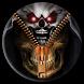 Skull Zipper Lock Screen by Locker