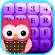 Cute Owl Emoji Keyboard by mystic apps