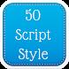 50 Script Fonts Style by Fancy Font For U