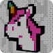 Voxel 3D Unicorn Color By Number-Sandbox Pixel Art by Number Coloring Apps