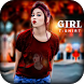 Girl T Shirt Photo Frame by Photo Video Apps