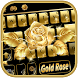 Gold rose Keyboard Theme by Fantasy Keyboard studio