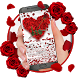 Red Rose Petal Keyboard by Super Cool Keyboard Theme