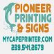 Pioneer Printing & Signs by J R Designs