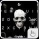 Live 3D Skull Keyboard Theme by Fashion Cute Emoji