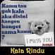 DP Kata Rindu by flashlight