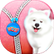 Cute Puppy Zipper Lock Screen by Super Cool Girl Games and Apps Free