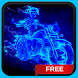 Neon Skeleton Rider Live Wallpaper Theme by CG-Live-Wallpapers