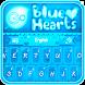 GO Keyboard Blue Hearts Theme by Inner Works Studios