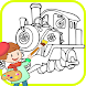 Learn Paint for Chugging train Fans by GoColoring Art Design Apps