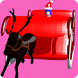Lady Santa Sleigh Downhill by sweetcabbage