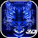 3D Blue Neon Tiger Theme by Elegant Theme