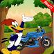 Woody Woodpecker Motorbike