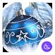 Blue shine ball APUS launcher theme & HD wallpaper