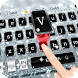 Silver flashing diamond theme keyboard by Cool Theme Creator