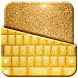 Gold Glitter Keyboard Theme by Mega Lab Studio
