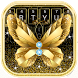 Golden Luxury Butterfly Diamond Keyboard by Input theme