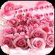 Pink Rose Keyboard Theme by Keyboard Design Paradise