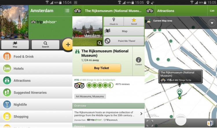 TripAdvisor Amsterdam City Guide Android App