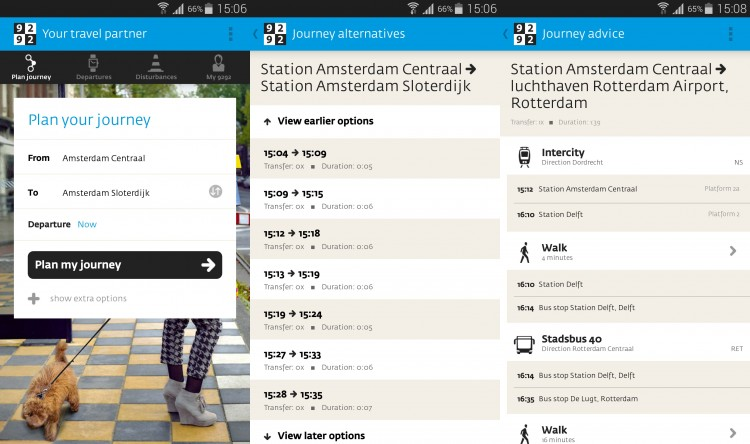Amsterdam Public Transport Android App