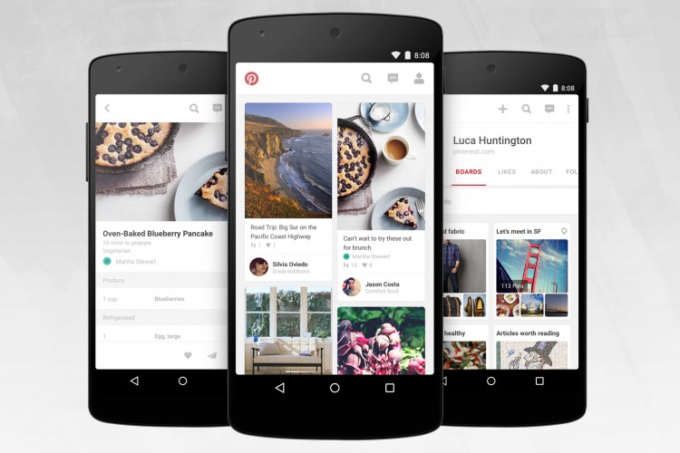 Pinterest for Android Gets a New Look