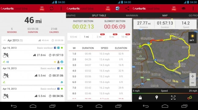 Runtastic Road / Mountain Bike for Android