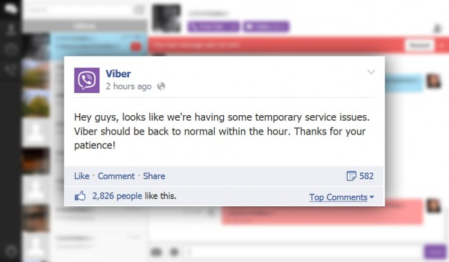 Viber Confirms Outage, Working on Resolving the Issue