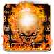Grim Hell Cool Fire Keyboard | Theme Style by Launcher and Keyboard Theme Design