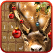 Christmas Reindeer Emoji Keyboard by Pink Girly Apps