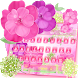 Pink Rose Flower Keyboard Theme
